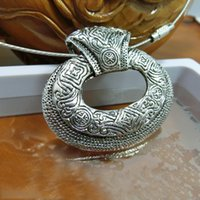 Wholesale Tibetan Necklaces For Sale - Elegant Design Chunky Necklace For Party Ladies Statement Necklaces Best Quality Tibetan Silver Choker Sale Online 047