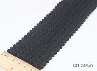 Wholesale Elastic Band Trim - 60mm Black Elastic Stretch Ribbon Tape Trim Band Strap Webbing Applique Sewing Supplies cinta for Costume Belt 20yd T1174
