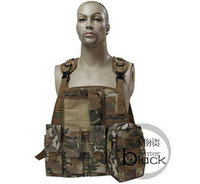 Wholesale Tactical Vest Airsoft Paintball - tactical Army combat camouflage pouch SWAT Airsoft CS Vest for Paintball Hunting Assault Outdoor Training Waistcoat sofety clothing