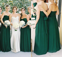 Cheap Emerald Green Chiffon Bridesmaid Dresses | Free Shipping ...
