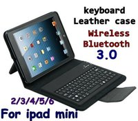Wholesale Bluetooth Silicon Keyboard Pc - Wireless Bluetooth Keyboard leather case & Bags Stand Holder Case Cover for tablet pc ipad Mini 2 3 4 Air ipad 5 ipad 6 Air 2 Protective
