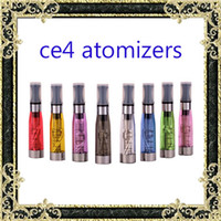 Ecig tanks Electronic Cigarette ego ce4 Atomizer vaporisateur tanks 1.6ml eGo T CE4 Cartomizer Black / Colorful Tips E-cigarette Clearomizer