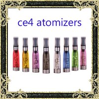 Wholesale Colorful Ce4 Atomizer Cartomizer Ego - Ecig tanks Electronic Cigarette ego ce4 Atomizer vaporizer tanks 1.6ml eGo T CE4 Cartomizer Black Colorful Tips E-cigarette Clearomizer