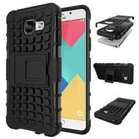 Wholesale galaxy s5 kickstand cover resale online - 2 in Hybrid KickStand Impact Rugged Heavy Duty TPU PC case Cover for Samsung Galaxy s4 s5 S5 MINI s6 s6 edge s7 A3 A5