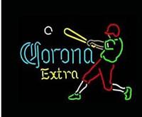 ingrosso segni della birra da baseball-Corona Extra Giocatore di baseball Neon Sign Commerciale personalizzato fatto a mano Beer Bar Club Pub Sala giochi Sport Display vetro reale Neon Signs 17
