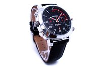 8GB 16GB 32GB Leather Strap Watch Camera 1920 * 1080 Spy Cam Waterproof USB Relógio DVR