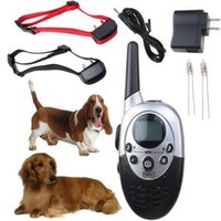 Wholesale Remote Controlled Electric Shock Collar - for 2 Dogs Trainer 1000M Waterproof Rechargeable LCD Remote Pet Dog Training Collar Electric Shock Large Dog Control