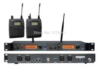 Wholesale Transmitter Ear - Wholesale-In Ear Monitor Wireless System, Twin transmitter Monitoring Professional for Stage Performance