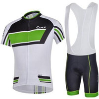 Wholesale Team Sky Cycling Apparel - Wholesale summer cheji team sky jersey 2015 new arrival cycling apparel short sleeve outdoor road men short sleeve green and white jersey