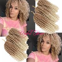 Wholesale blonde kanekalon braiding hair resale online - OMBRE BLONDE HAIRT mali bob MALIBOB INCH MARLYBOB KINKY CURLY HAIR SYNTHETIC BARIDING KANEKALON crochet braids for one hea hooks gift