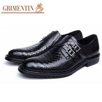 Wholesale Vintage Rubber Animals - GRIMENTIN fashion men oxfords genuine leather men shoes black brown top quality casual classic vintage male shoes Size:38-44 ox1222