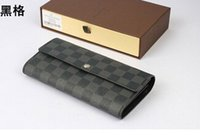 Wholesale womens purse wallets branded - Free shipping Hot Sell europe fashion PU Leather mens and womens wallets imitation brands designer purse card Holders (4 color for pic