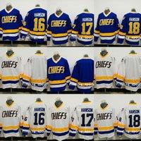 Charlestown/Chiefs/16,17,18/Slap Shot Ice Hockey Movie Jersey vinking Hanson Brothers Jersey
