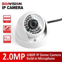 Wholesale Ip Camera Ir Lens Filter - Security H.264 HD 1 2.8'' CMOS 1080P Indoor Dome 2.0MP IP Camera With Audio Realtime Use IR 20m 3.6mm Lens IR-Cut Filter For Onvif NVR