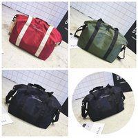 Wholesale travel handbags for sale - 3 Colors Korean Style Letter Duffel Bags Unisex Handbags Outdoor Sports Travel Bags Beach Bag Nylon Shoulder Bag CCA8296