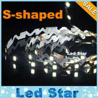 Wholesale Wholesale Bent Wire - Bend Freely Led Light Strips 12V 2835 IP20 S-shaped Flexible LED Strip Light Channel Letters Backlight 5m roll 60LEDs m