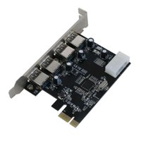 Wholesale Port Pci Superspeed Usb - Wholesale-Free Shipping Superspeed 5Gbps 4 ports USB 3.0 PCIe Control Card   PCI Express to USB3.0 Converter Adapter