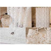 Wholesale Peva Curtain - New Semitransparent Vine Pattern Mildew proof PEVA Bathroom Shower Curtain Waterproof Bath Curtain with Hooks 4 Size Optional