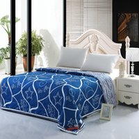 Wholesale Thin Summer Quilts - Wholesale-Simple and stylish water porcelain flowers spin silk thin cotton cooler air conditioning Summer quilt is a generation of fat