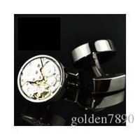 Wholesale Men Cuff Watches - FC Functional mechanical watch cufflinks male French cuff links man men cufflink Gift free shipping 991074YW