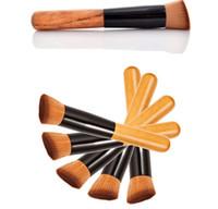 Wholesale wholesale brushes mask for sale - High Quality Powder Brush Wooden Handle Multi Function Blush maquiagem Brush Mask Brush Foundation Makeup Tools set kits