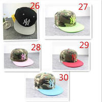 Wholesale Ny Caps Snapbacks - 2015 Adjustable snapbacks Hats snapback NY baseball caps, adjustable flat hat Hip hop dance lovers Women and men Baseball Cap