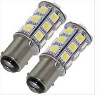 Wholesale Led Stop Trailer Lights - 100PCS 1157 24SMD 5050 T25 S25 White SMD LED Car Stop Tail Brake Light Bulb Car RV Trailer LED wholesale