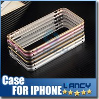 Wholesale Aluminium Case For Galaxy S4 - Iphone 6S 5S 6S Plus Samsung Galaxy S6 S6 Plus S6 Edge S5 S4 Note 5 4 A7 Metal Bumper Frame Slim Aluminium Alloy Arc Protector Case Cover