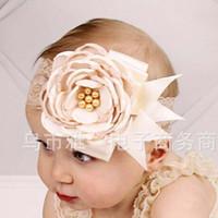 Wholesale infant girls head accessories resale online - Childrens Accessories Kid Lace Headbands For Girls Children Hair Accessories Kids Flower Head Bands Infants Baby Hair Accessories C8988