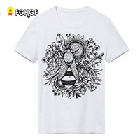 Wholesale Woman Abstract Shirts - Fashion Brand Summer T Shirt Women abstract Printed male T-shirts men O-neck Tops Tee Shirt men's Casual Clothing