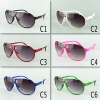 New Arrival Kids Pilot Sunglasses Children Sunglasses PC Frame Mixed 6 Colors Kids Size 20pcs Free Shipment