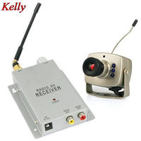 Kelly 1.2GHz Wireless Camera + Wireless VideoAudio Récepteur CCTV Camera Kit Emetteur Récepteur