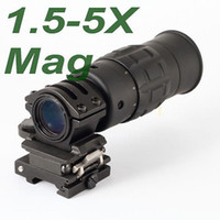 Wholesale Zoom Rifle Scopes - Tactical 1.5-5X Magnifier Scope with Flip to Side Mount Zooming Optics