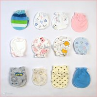 Wholesale Baby Mittens Scratch - cute newborn baby anti-scratch gloves & mittens 100% cotton infant products stuff accessories supplies 5 pairs lot