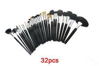 Wholesale Best Seller Bags - Best Seller 32pcs 24pcs Professional Cosmetic Makeup Brushes set kit tool + Black Pouch Bag makeup brushes tools