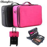 Travel Beauticians Professional Cosmetic Makeup Bag Grande capacidade Beauty Organizer Mulheres Portable Makeup Storage Box necesser