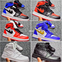 Wholesale Girls High Top Sneakers Children - 2018 Kids Air Retro 1 Basketball Shoes Children Sneakers Top 3 Black White Red High Quality Boots Boys Girls Retros 1s Sport Shoes Eur 28-35