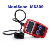 obd2 araba kodu okuyucu toptan satış-MaxiScan MS309 Autel CAN OBD2 Tarayıcı Kod Okuyucu OBDII Otomatik Tarayıcı Araç Teşhis Aracı ms309 Ücretsiz Kargo