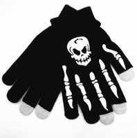Wholesale Skeleton Touch Screen Gloves - Wholesale-New Hot Women Men Touch Screen Soft Cotton Winter Gloves Warmer Smart For All phones Skull Claw Skeleton Touch screen gloves