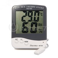 Wholesale Temp Humidity Controllers - Digital LCD Outdoor Hygrometer Humidity Thermometer Temp Meter