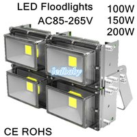 Wholesale Cheapest Led Flood Lights - Cheap Hot Sales 30W 50W 60W 90W 100W 120W 150W 200W Outdoor Waterproof Led Floodlights Cool White IP67 Flood Lights 85~265V DHL Free