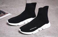Wholesale winter high cut running shoes - Luxury Sock Shoe Speed Trainer Running Shoes High Quality Sneakers Speed Trainer Sock Race Runners black Shoes men and women Sports Shoes