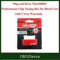 Wholesale Power Performance Chips - Wholesale-NitroOBD2 Performance Chip Tuning Box For Diesel 35% MORE POWER 25% TORQUE OBD2