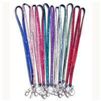 Wholesale Claw Clasp Holder - Luxury Bling Lanyard Crystal Rhinestone in neck with claw clasp ID Pass Card Badge Key Holder for Mobile phone Camera