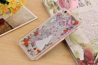 Wholesale Drawing Pattern Case - New colored drawing pattern Silver stars Liquid quicksand PC material phone cover cases for iphone 5 5s 6 6s plus