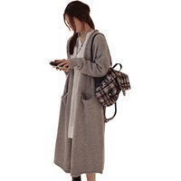 Wholesale korean clothes jackets women - Wholesale- 2016 autumn winter sweater women new Korean long cardigan coat thick large size sweaters jacket jumper clothing vestidos MMY360