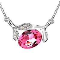 Wholesale Tian Necklace - Austrian crystal necklace - Tian Mei leaves-colours