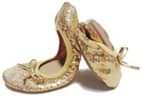 Slip-On spangle fabric - Foldable sequin dance shoes spangled foldable flats Shiny bling flat shoes paillette folding ballet shoes DHL