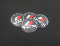 Wholesale Trd Sports Emblem - 4pcs set 56mm Car Auto Tyre Wheel Center Cover Stickers HubCap Stickers Emblems Badge Decal Fit TOYOTA MOTOR SPORTS TRD