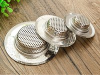 Wholesale Sanitary Sink Stainless Steel Strainers Bathtub Drain Hole Hair residue Screen Brand New Good Quality